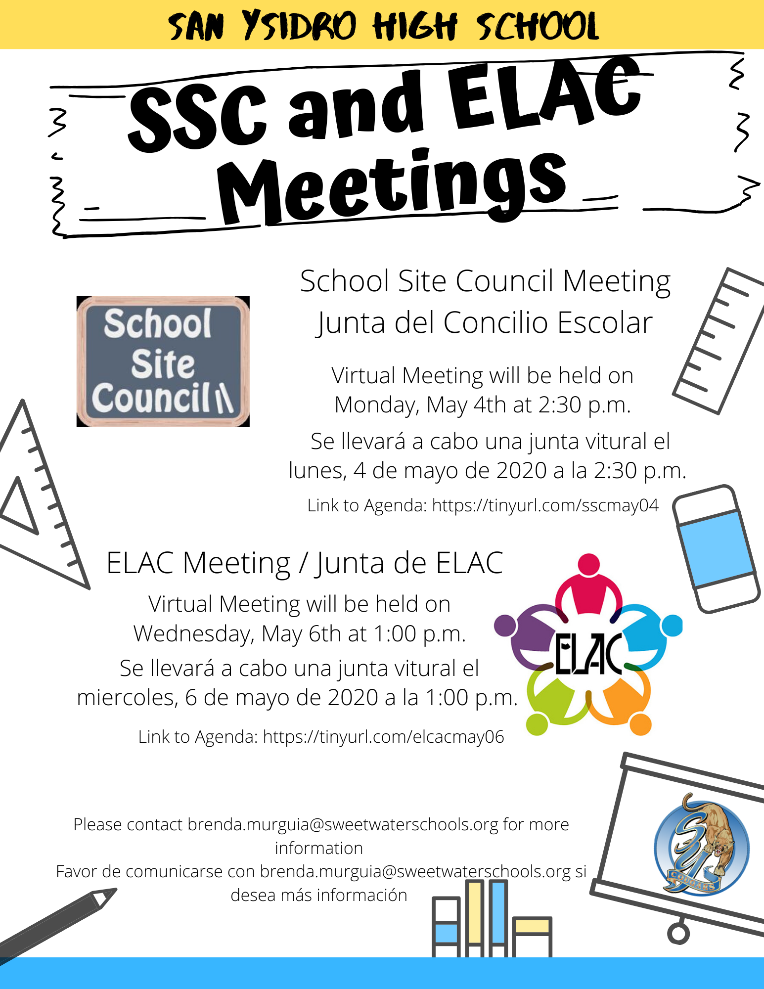 SSC Parent Meetings