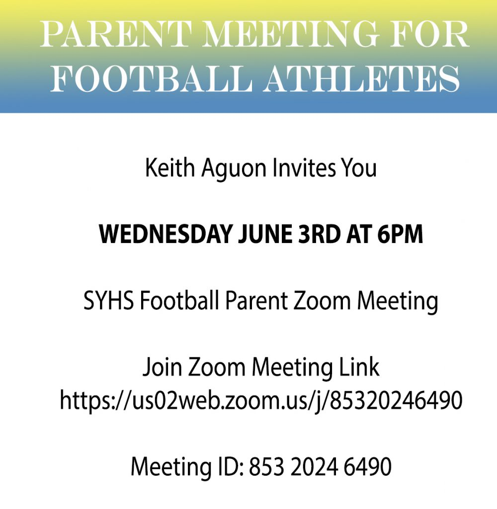 Football Parent Zoom Meeting